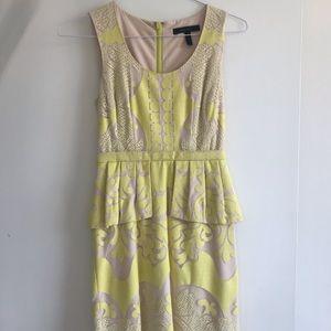 BCBG yellow/beige dress